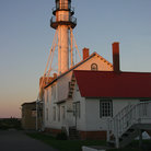 Picture - Whitefish Point lighthouse and keeper's house.