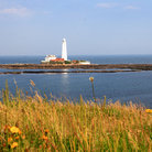 Picture - St Mary's Lighthouse on St Mary's Island, north of Whitley Bay.
