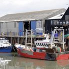 Picture - Boats docked at Whitstable.