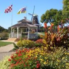 Picture - Gazebo and windmill with gardens on Windmill Island.