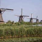 Picture - Rows of windmills at Kinderdijk.