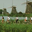 Picture - Windmills with bikers.