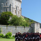 Picture - Guards in front of Windsor Castle, London.