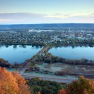 Picture - View over Winona in the fall.