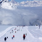 Picture - A ski run at Zermatt.