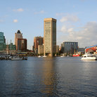 Picture - The Inner Harbor and the World Trade Center in Baltimore.