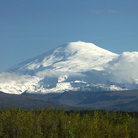 Picture - Mount Wrangell, the highest peak of Alaska's Wrangell Mountain Range.