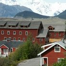 Picture - Historical Kennecott Mine Town Site in Wrangell-St Elias National Park.
