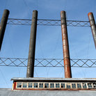 Picture - Chimneys from the old Kennecott Copper Mine.