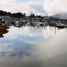 Picture - Fishing boats docked in Wrangell.
