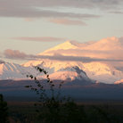 Picture - Sunset over Mt Drum in Wrangell National Park.