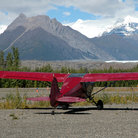 Picture - Bush plane in the Wrangell Mountains.
