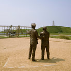 Picture - Memorial to the aviation pioneers Orville and Wilbur Wright in North Carolina.