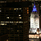 Picture - Wrigley Building at Night, Chicago.