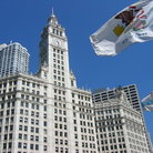 Picture - Wrigley Building at 400 North Michigan in Chicago was built in 1920 to 1924.