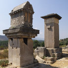 Picture - Pillar tombs in Xanthos rediscovered in the 19th century by Sir Charles Fellows.