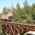 Picture - A holocaust train at Yad Vashem in Jerusalem.