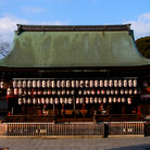 Picture - The Yasaka Shrine in Kyoto.