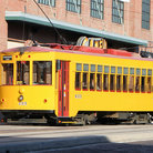Picture - A Tampa Bay street car in Ybor City.