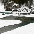 Picture - Kicking horse river in winter, Yoho National Park.