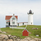 Picture - Nubble lighthouse and Keepers House, York, Maine.