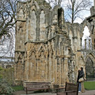 Picture - Remains of the St Mary's Abbey that is now part of York Museum.