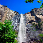 Picture - Bridal Veil Fall in Yosemite National Park.