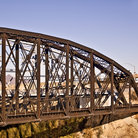 Picture - An old train bridge spanning the Colorado River at Yuma.