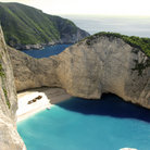 Picture - Shipwreck Bay on Zakynthos.