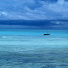 Picture - The Indian Ocean off Zanzibar.