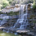 Picture - A waterfall at Zilker Park in Austin,.
