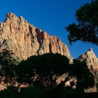 Picture - Sandstone mountain in Zion National Park.