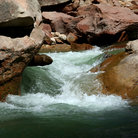 Picture - River flowing through Zion National Park.