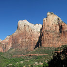 Picture - Court of the Patriarchs in Zion National Park, Utah.