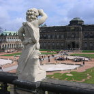 Picture - Angel statue at Zwinger, Dresden.