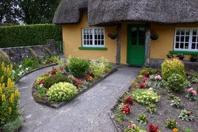 Picture - Thatched roof cottage in the village of Adare.