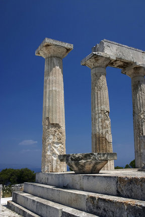 Picture - The Aphaia Temple at Aegina.