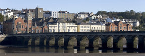 Picture - Bridge over the River Torridge at Bideford.
