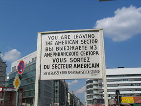 Picture - Checkpoint Charlie in Berlin.