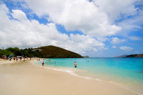 Picture - Coki Bay Beach on St Thomas.