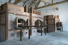 Picture - Crematorium at the Dachau Concentration Camp.