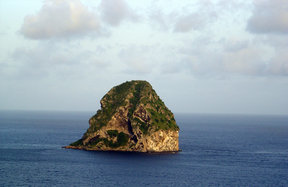 Picture - Diamond Rock off Martinique.