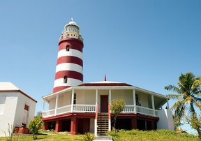 Picture - The lighthouse at Hope Town on Elbow Cay in the the Abacos Islands.