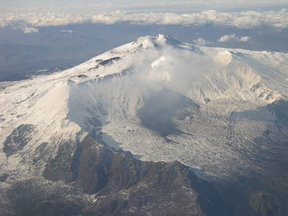 Picture - View of Mount Etna.
