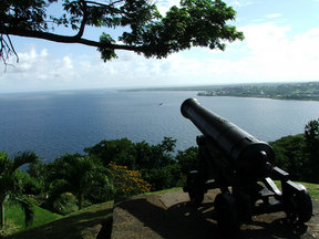 Picture - Cannon from Fort King George in Scarborough on the island of Tobago.