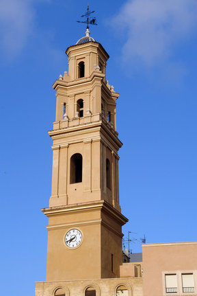 Picture - Church tower in Gandia.