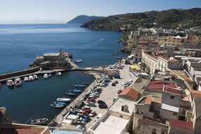 Picture - Town of Lipari on the island of Lipari.