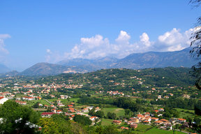 Picture - Village in the valley in Molise.
