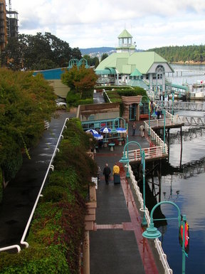 Picture - Walkway at Nanaimo Harbor.