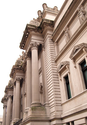 Picture - Architectural detail of the Metropolitan Museum of Art in New York City.